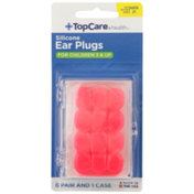 TopCare Silicone Ear Plugs For Children 3 & Up, Nrr 21