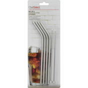 Chef Select Straws, Stainless Steel, Blister Pack