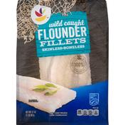 Ahold Flounder Fillets, Skinless, Boneless, Wild Caught