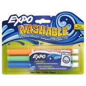 Expo Markers, Dry Erase, Washable, Fine Tip