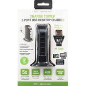 Itek Charge Tower, 5 Port USB