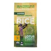 Lotus Foods Jasmine Organic Brown Mekong Flower Rice
