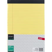 Smart Living Legal Pads, Canary, Ruled, 3 Pack