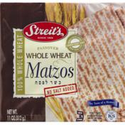 Streit's Passover Whole Wheat Matzos No Salt Added