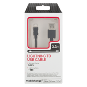 Mobilcharge Lightning to USB Sync and Charge Cable 3.3 FT