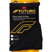 FUTURO Dress Socks for Men, Medium