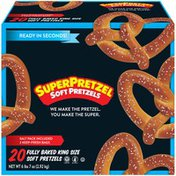 SUPERPRETZEL Fully Baked King Size Soft Pretzels