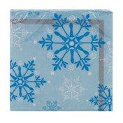 Smart Living Snowflake Swirls Napkins - 16 CT