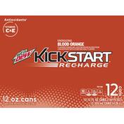 Mtn Dew Kickstart Recharge Blood Orange Juice Drink