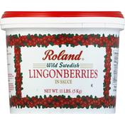 Roland Foods Lingonberries, Wild Swedish, in Sauce