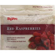 Hy-Vee Raspberries, Red, Unsweetened