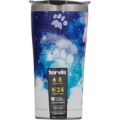 Tervis Tumbler, with Lid, Stainless, Paw Prints, 20 Ounce