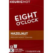 Eight O'Clock Coffee Coffee, Medium Roast, Hazelnut, K-Cup Pods