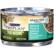 Purina Pro Plan Natural, Grain Free Pate Wet Cat Food, TRUE NATURE Natural Trout & Salmon Entree