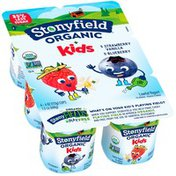 Stonyfield® Organic Kids Blueberry & Strawberry Vanilla Lowfat Yogurt Variety Pac