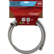 Ace Bakery Dishwasher Connector, Stainless Steel, Braided