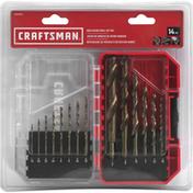 Craftsman Drill Bit Set, Gold Oxide, 14 Pieces
