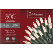 Celebrations Light String, Clear-Mini, Indoor/Outdoor