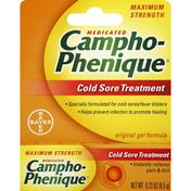 Campho-Phenique Cold Sore Treatment, Medicated, Maximum Strength, Original Gel Formula