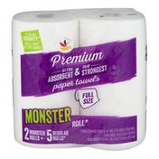 Ahold Full Size Monster Roll Paper Towels - 2 CT