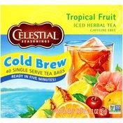 Celestial Seasonings Cold Brew Tropical Fruit Caffeine Free Iced Herbal Tea Bags