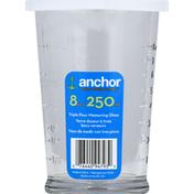 Anchor Measuring Glass, Triple Pour, 8 Ounce