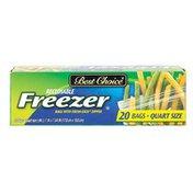 Best Choice Zip Frozen Quart Plastic Bags
