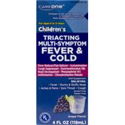 CareOne Children's Triacting Multi-Symptom Fever & Cold Grape