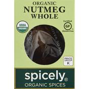 Spicely Organics Nutmeg, Whole, Organic