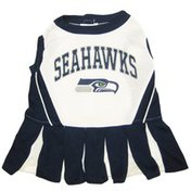 Pets First Small Seattle Seahawks Cheerleader Dog Dress