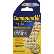 CompoundW Wart Remover, Maximum Strength, One Step Strips, for Kids