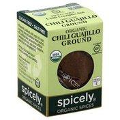 Spicely Chili Guajillo, Ground, Organic