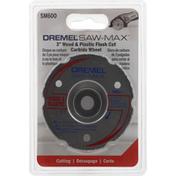 Dremel Carbide Wheel, Wood & Plastic, Flush Cut, 3 Inch
