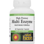 Natural Factors Multi Enzyme, High Potency, Vegetarian Capsules