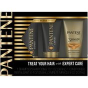 Pantene Mixed Pantene Expert Intense Hydration Shampoo and Conditioner (9.6 fl oz and 8.0 fl oz) with 3 Minute Miracle Moisture Renewal (8.0 fl oz) Set Female Hair Care