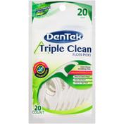 DenTek Triple Clean Mouthwash Blast Floss Picks