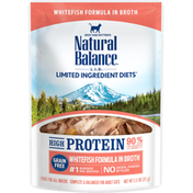 Natural Balance Cat Food, Whitefish Formula In Broth, High Protein, Adult