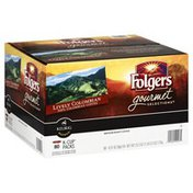 Folgers Medium Roast Coffee, Lively Colombian, Gourmet Selections, K-Cup, Box