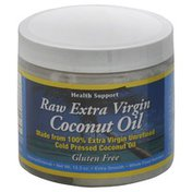 Health Support Coconut Oil, Raw Extra Virgin