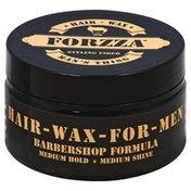 Forzza Hair-Wax, Styling Fiber, Medium Hold + Medium Shine, for Men