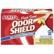 Stater Bros Tall Drawstring Fresh Scent 13 Gallon Kitchen Bags