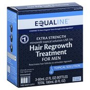 Equaline Hair Regrowth Treatment, for Men, Extra Strength, Unscented