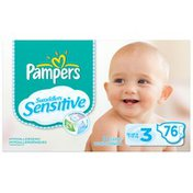 Pampers Swaddlers Sensitive Super Pack Size 3 Diapers