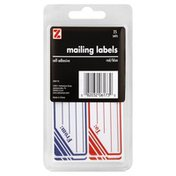 Z Mailing Labels, Red/Blue