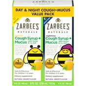 Zarbee's Naturals Children's Cough + Mucus Syrup Variety Pack