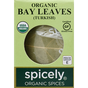 Spicely Organics Bay Leaves, Turkish, Organic