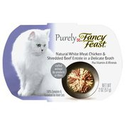 Purely Fancy Feast Purely 100% Complete & Balanced Food For Adult Cats