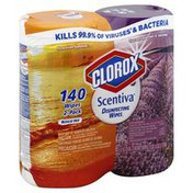 Clorox Wipes, Disinfecting, Hawaiian Sunshine, Tuscan Lavender & Jasmine, 2-Pack