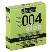 Okamoto Condoms, Male Latex, Aloe