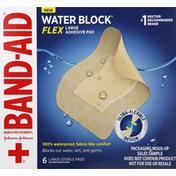 Band-Aid Adhesive Pad, Water Block, Flex, Large